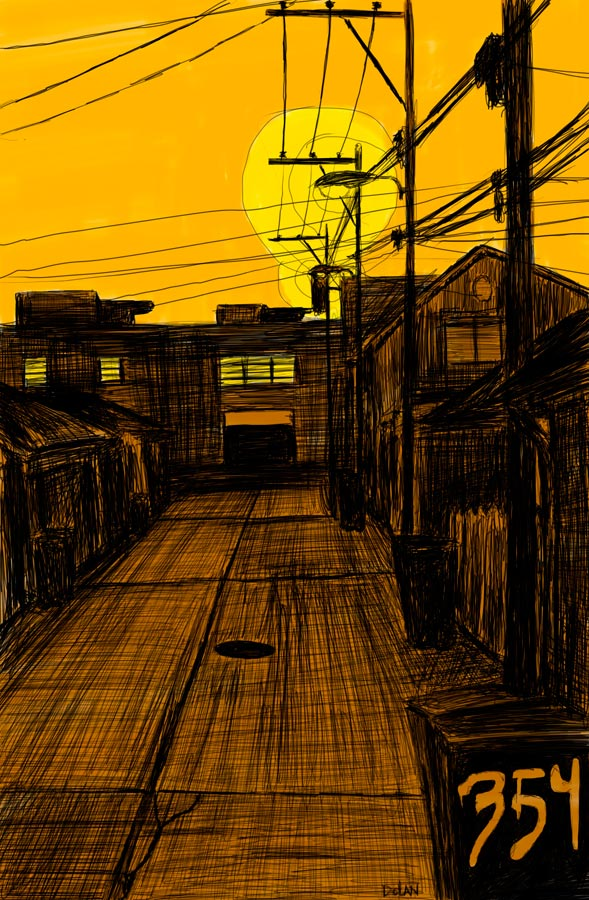 Alley Study 17 with 354