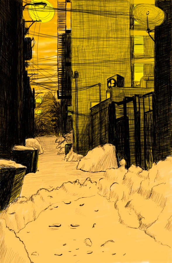 Alley Study 8 with Snow