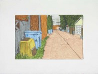 Alley with Ash Bin