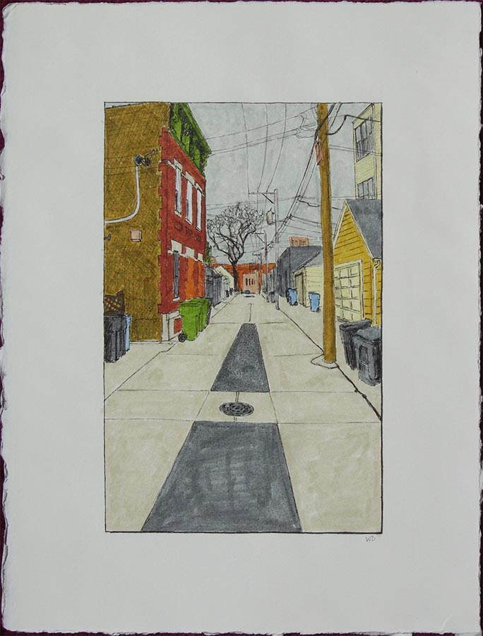 Alley with Backward Building