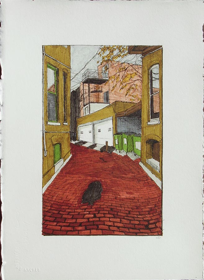 Alley with Bend