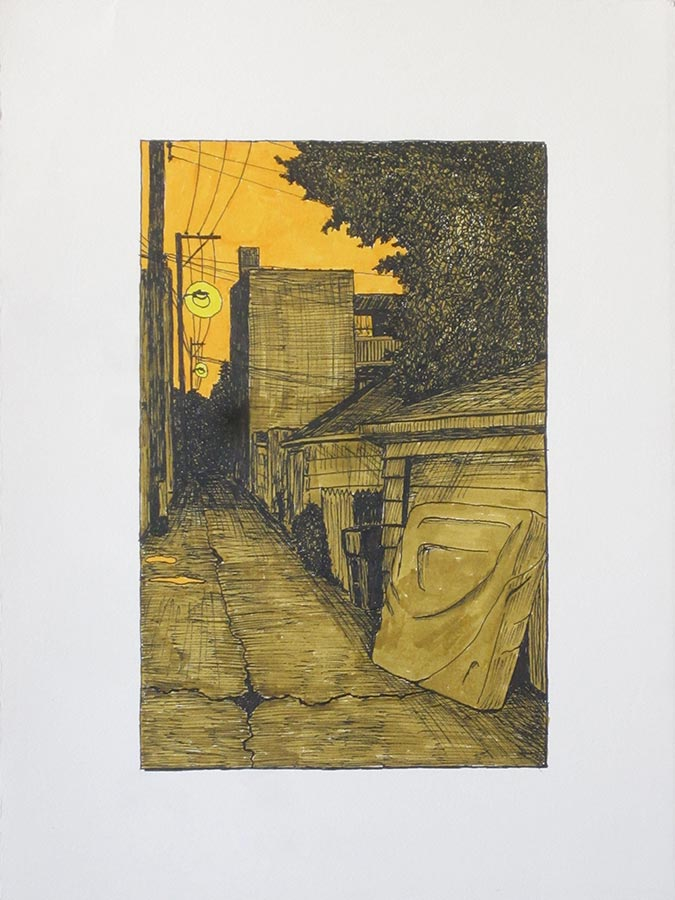 Alley with Box Spring