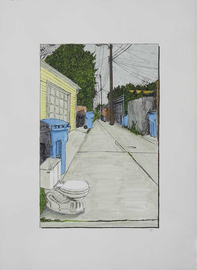 Alley with Toilet