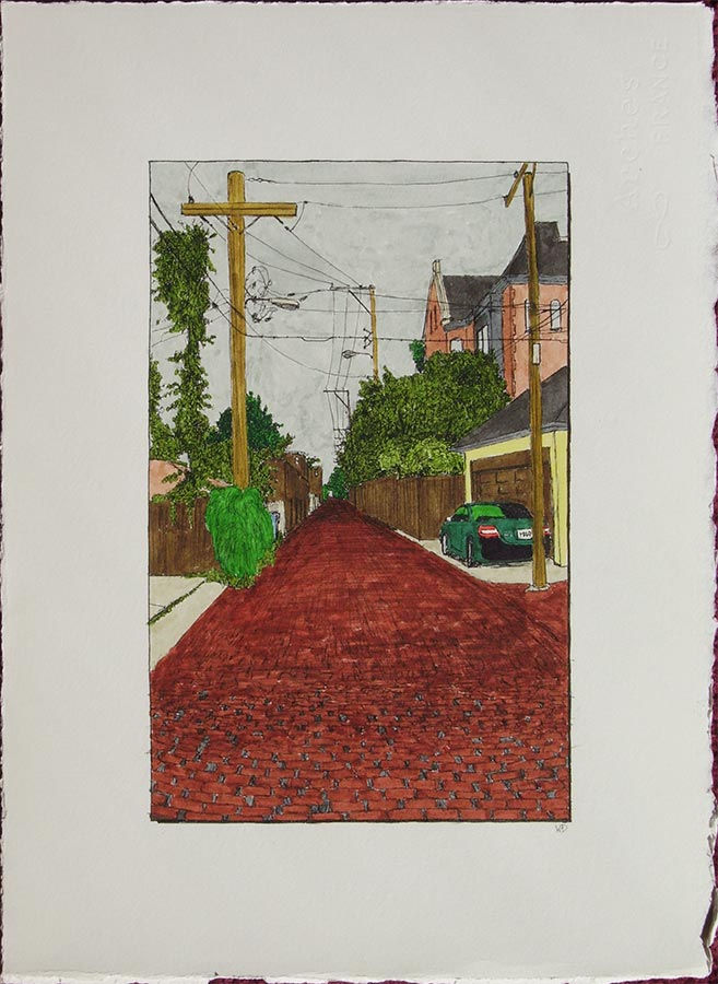Alley with Cross
