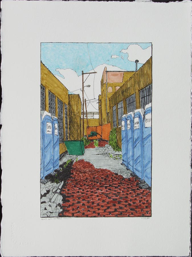 Alley with Portable Toilets