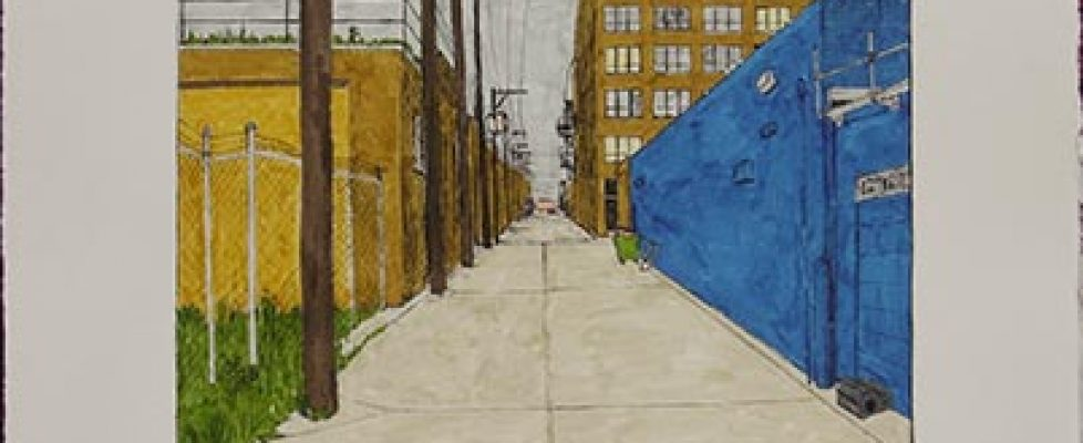 William Dolan -- Alley with Blue