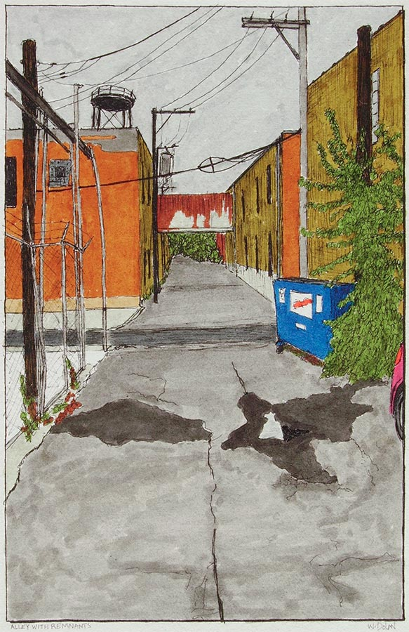 Alley with Remnants