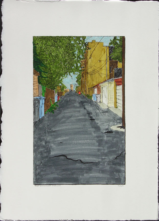 Alley with Summer Afternoon
