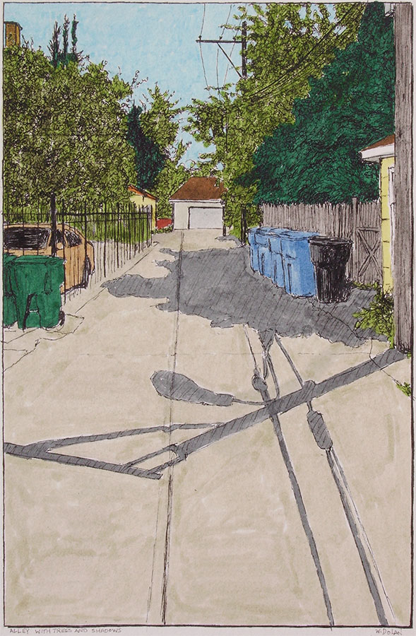 Alley with Trees and Shadows