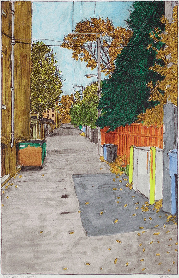 Alley with Fall Colours