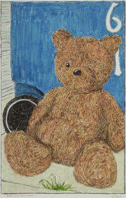 Alley with Teddy Bear