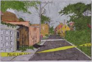 Alley with Crime Scene